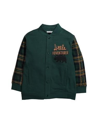 Zeyland Ekose Parçalı Çıtçıtlı Sweatshirt (5-12yaş) Ekose Parçalı Çıtçıtlı Sweatshirt (5-12yaş) Haki